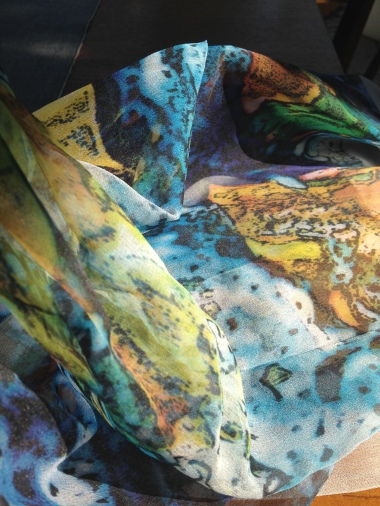 Melted Words on Fabric by Emmy Horstkamp