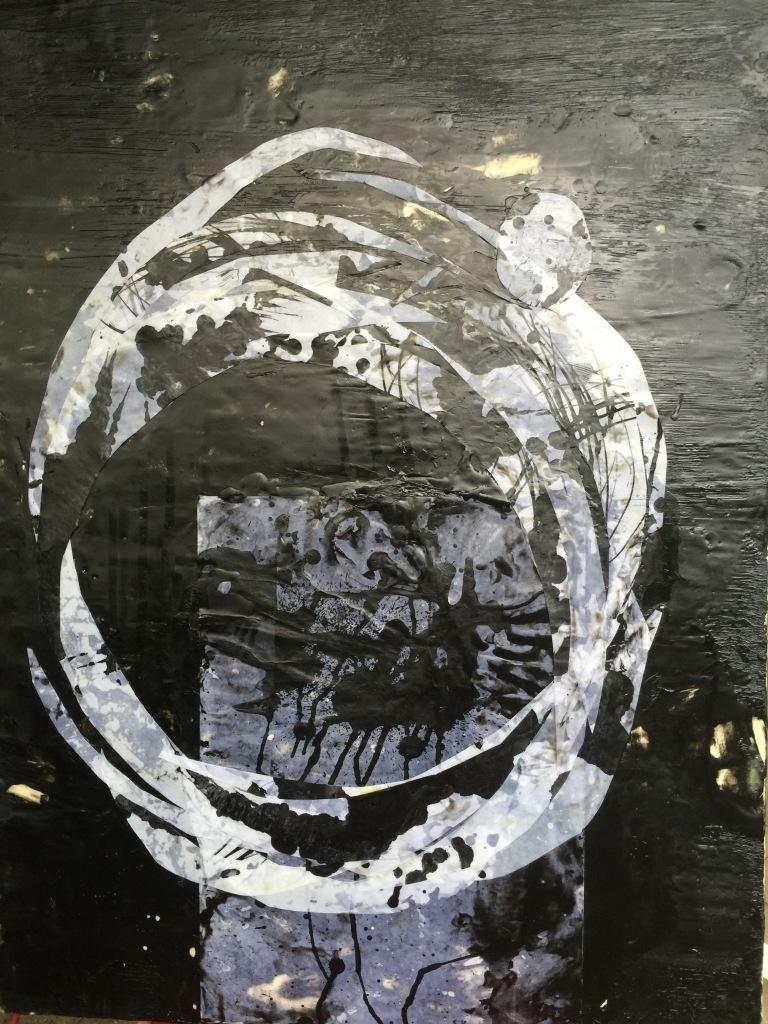 Emmy Horstkamp circle paper wax wood ink july 2015