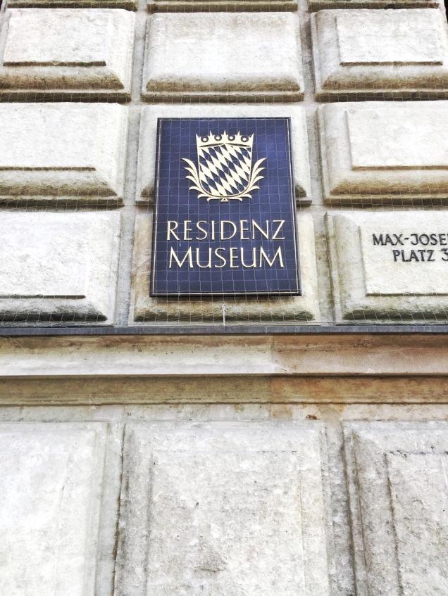 Residenz Museum sign