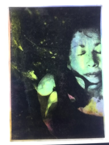 encaustic and marker on digital photograph - Emmy Horstkamp- 2015